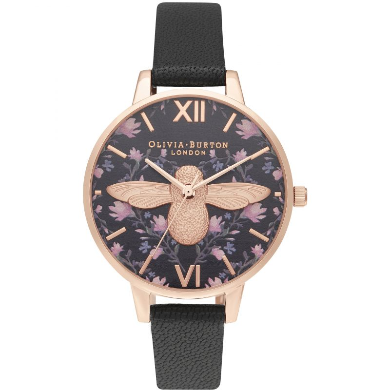 Meant To Bee Demi 3D Bee Black & Rg Watch OB16AM165 for £140