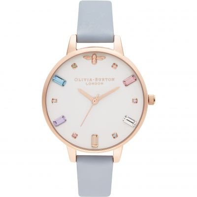 Rainbow Bee Demi Chalk Blue & Rose Gold Watch