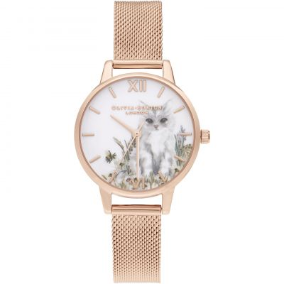 Illustrated Animals Rg Mesh Watch