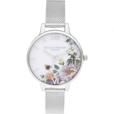 Enchanted Garden Demi Silver Mesh Watch