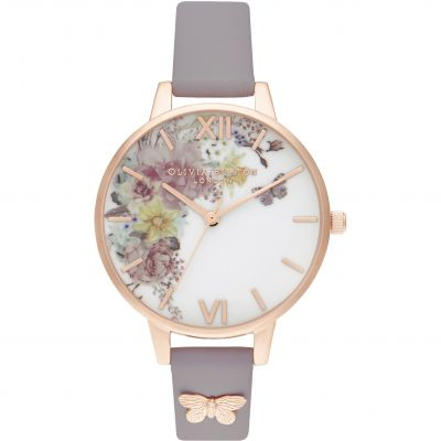 Enchanted Garden Demi Grey Lilac & Rg Watch
