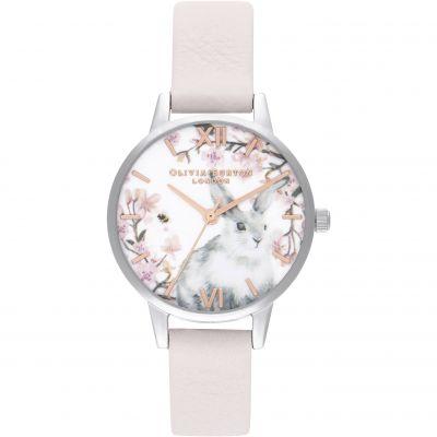 Pretty Blossom Midi Blossom Rg   Silver Watch. Olivia Burton 29e88c4fdb