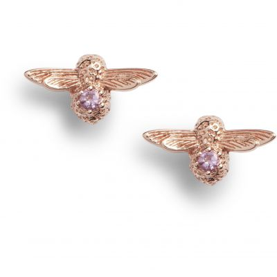 Olivia Burton Jewellery Bejewelled Bee Bejewelled Bee Stud Earrings RG & Amethyst