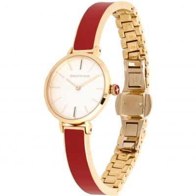Agama Red & Gold Plain Bangle Watch