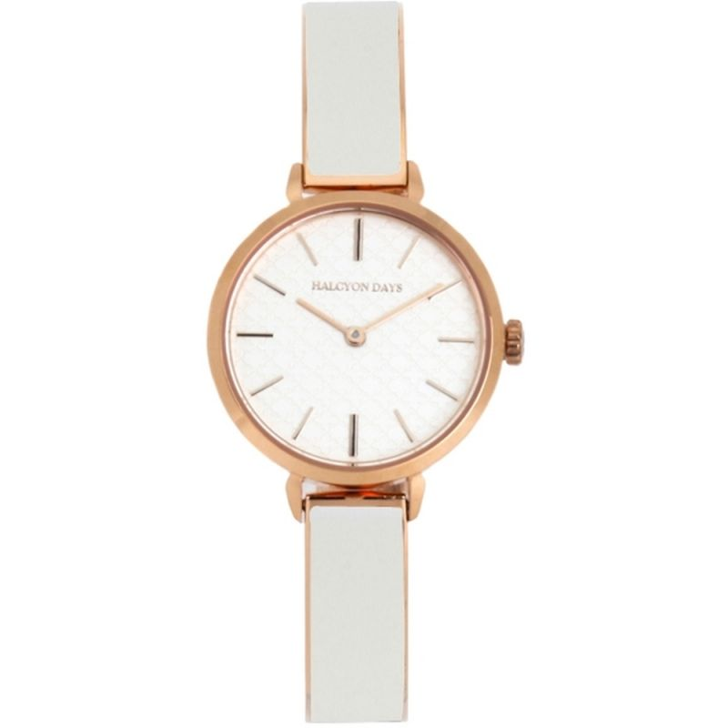 Agama Cream & Rose Gold Plain Bangle Watch