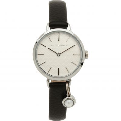 Agama Pearl Charm Black & Palladium Watch