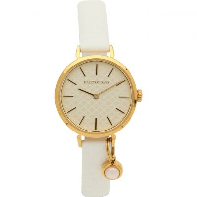 Agama Pearl Charm Cream & Gold Watch