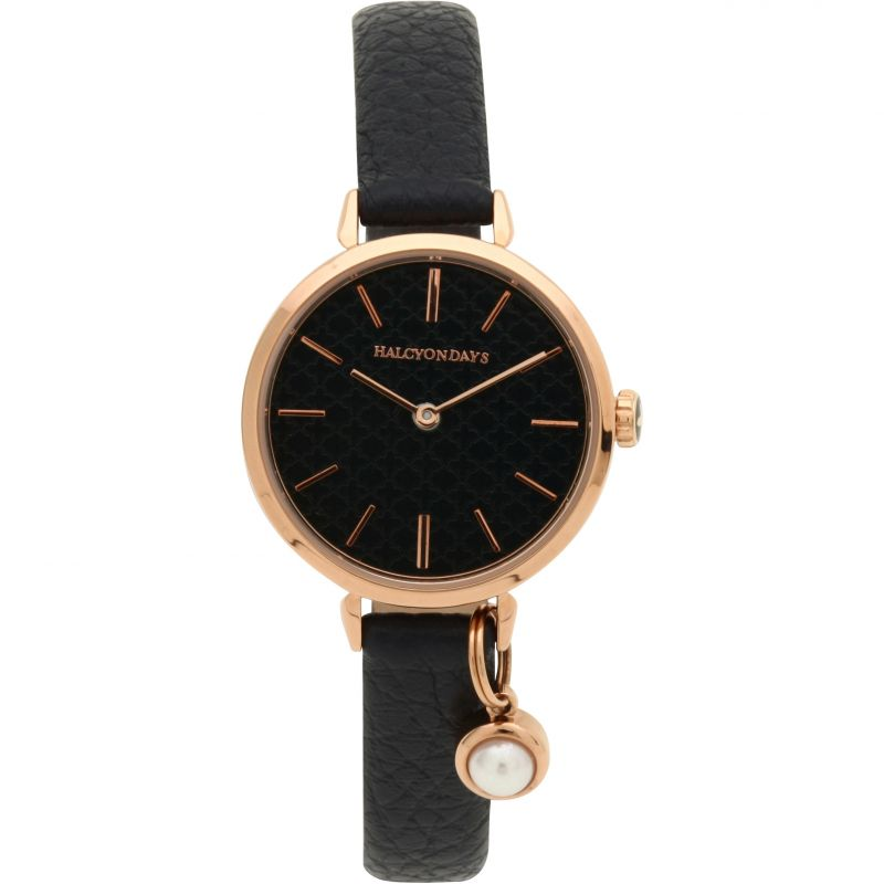 Agama Pearl Charm Navy & Rose Gold Watch