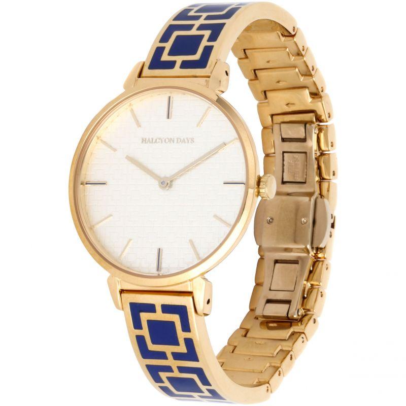 Maya Cobalt Blue & Gold Bangle Watch
