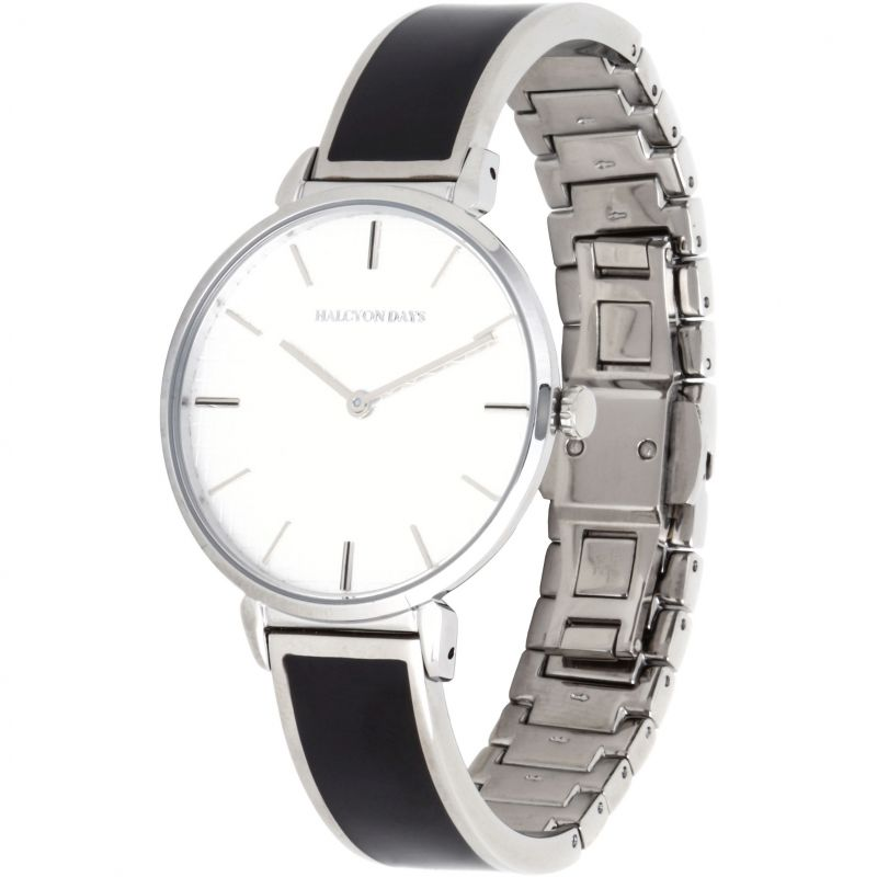 Maya Black & Palladium Plain Bangle Watch