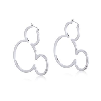 Disney Couture Mickey Mouse Anniversary Outline Hoop Earrings DSE377
