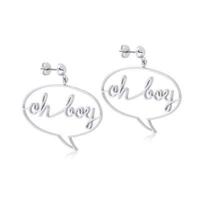 Disney Couture Mickey Mouse Anniversary Mickey Oh Boy Earrings DSE378