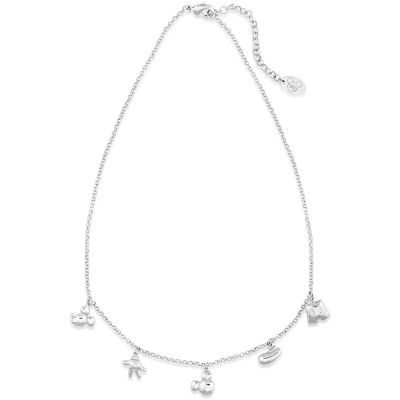 Disney Couture Mickey Mouse Anniversary Icon Charm Necklace DSN501