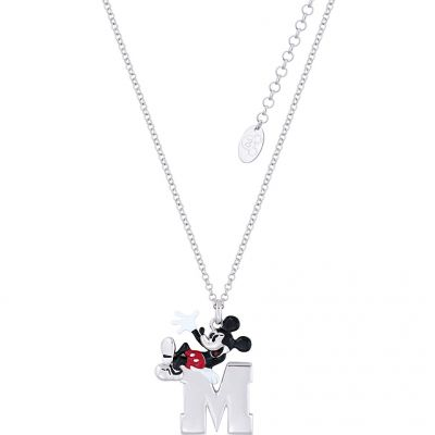 Disney Couture Mickey Mouse Anniversary M For Mickey Necklace DSN500