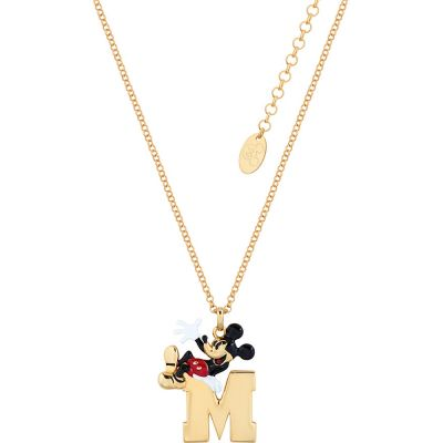 Disney Couture Mickey Mouse Anniversary M For Mickey Necklace Dyn500
