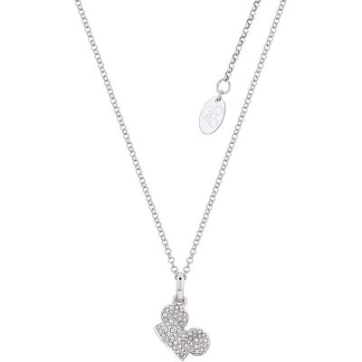 Disney Couture Mickey Mouse Anniversary Clear Crystal Hat Necklace DSN504