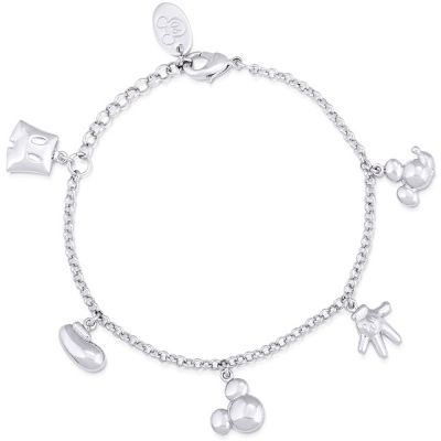 Disney Couture Mickey Mouse Anniversary Icon Charm Bracelet DSBR342
