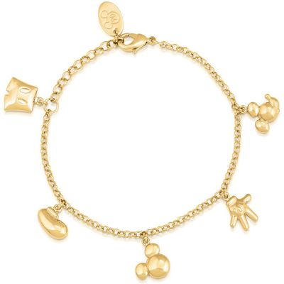 Disney Couture Mickey Mouse Anniversary Icon Charm Bracelet DYBR342