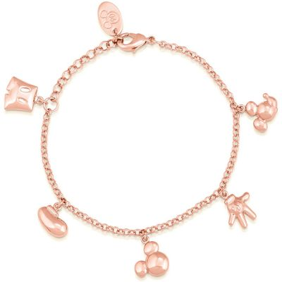 Disney Couture Mickey Mouse Anniversary Icon Charm Bracelet DRBR342