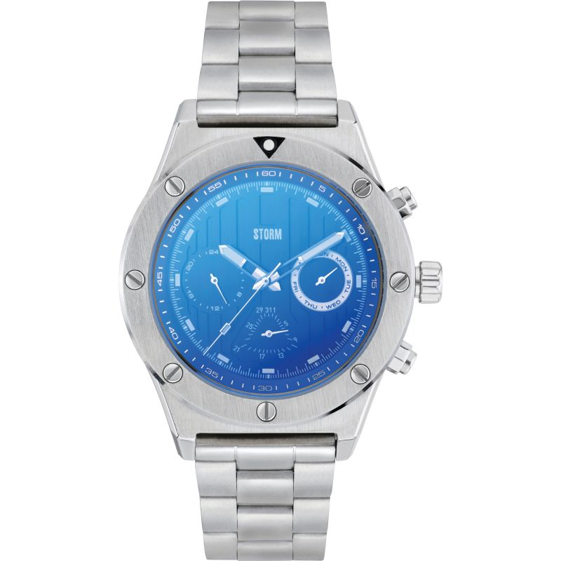 Storm Tyson Lazer Blue Watch