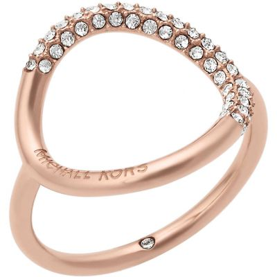 Ladies Michael Kors Stainless Steel Brilliance Collection Brilliance Ring Size O MKJ5859791506