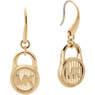 Ladies Michael Kors Stainless Steel Logo Collection Logo Padlock Drop Earrings MKJ6813710
