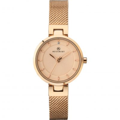 Accurist Ladies Mesh Bracelet Watch 8252