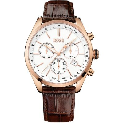 Hugo Boss Swiss Made 2 Herrkronograf Brun 1513396