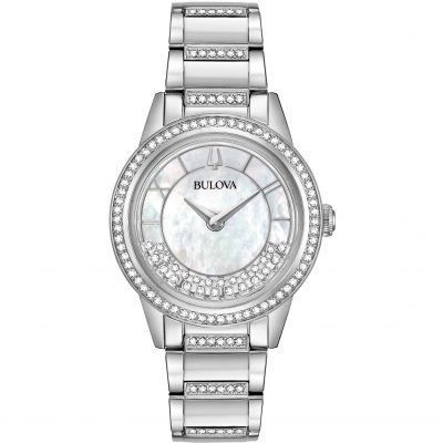 Ladies Bulova Quartz Dress Stainless Steel Watch 96L257