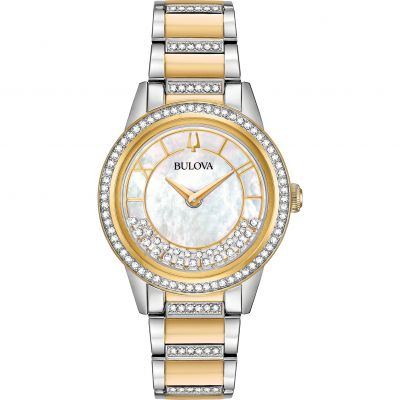 Ladies Bulova Quartz Dress Stainless Steel Watch 98L245
