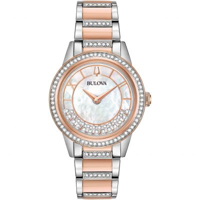Ladies Bulova Quartz Dress Stainless Steel Watch 98L246