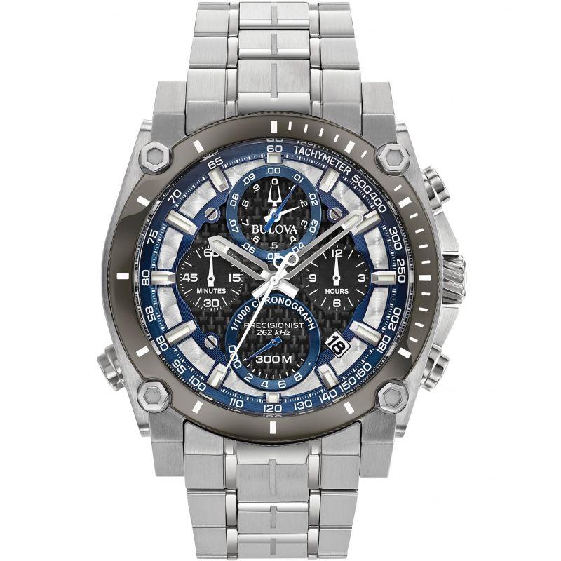 Mens Bulova Precisionist Champlain 1/1000 second Chronograph Watch