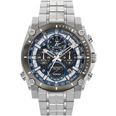 Mens Bulova Precisionist Champlain 1/1000 second Chronograph Watch 98B316