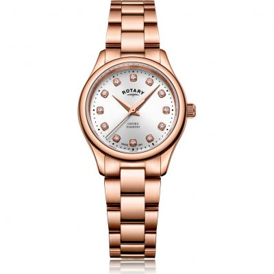 Rotary Oxford Dameshorloge Rose Gold LB05096/02/D