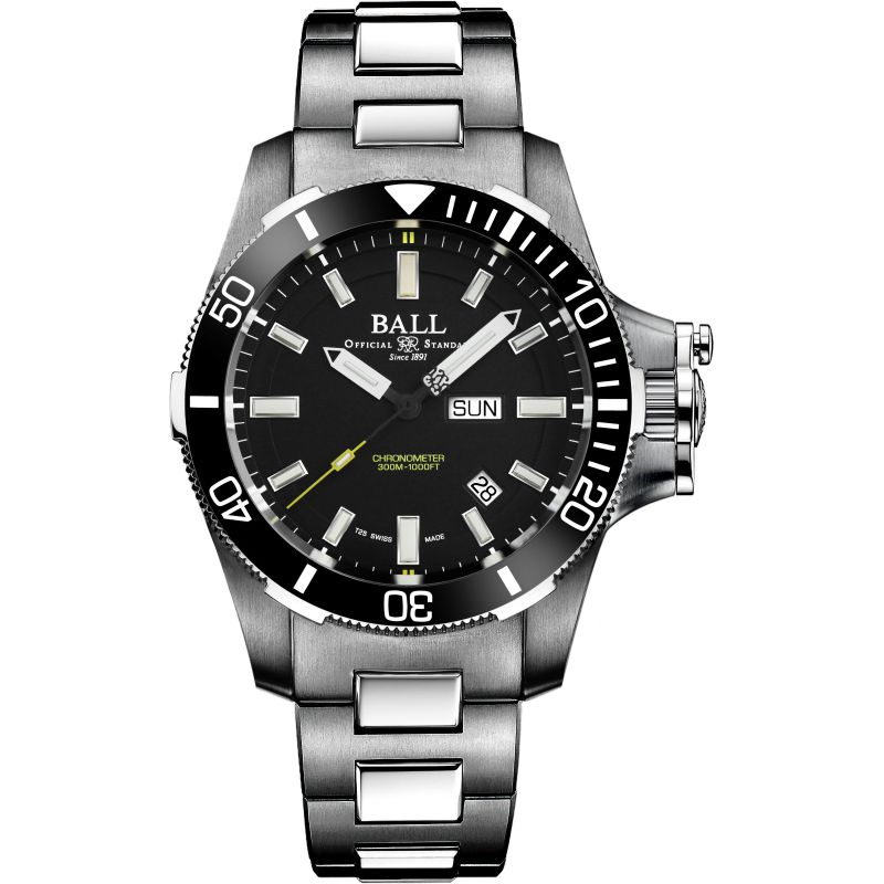 Ball Engineer Hydrocarbon Submarine Warfare Ceramic Automatic Chronometer Watch DM2236A-SCJ-BK