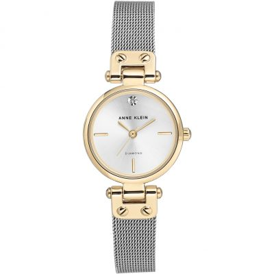 Anne Klein Diamond Collection Damklocka Silver AK/3003SVTT