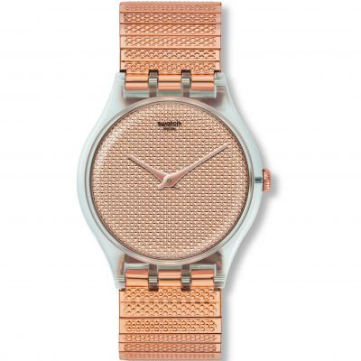 Swatch Deep Wonder Poudreuse L Unisexuhr in Rosegold SUOK134A