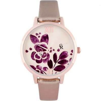 Charlotte Raffaelli Floral Collection Floral Damenuhr in Braun CRW18019