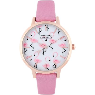 Charlotte Raffaelli Animal Collection Animal Damenuhr in Pink CRW18077