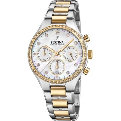 Ladies Festina Chronograph Watch F20402/1