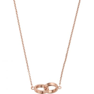 Interlink Rose Gold Necklace OBJ16ENN55