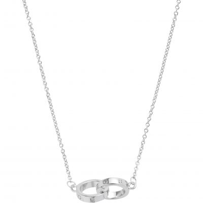 Engraveables Interlink Silver Necklace OBJ16ENN54