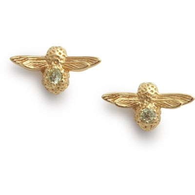 Joyería para Mujer Olivia Burton Jewellery Celebration Bee Studs & Peridot Earrings OBJAME102