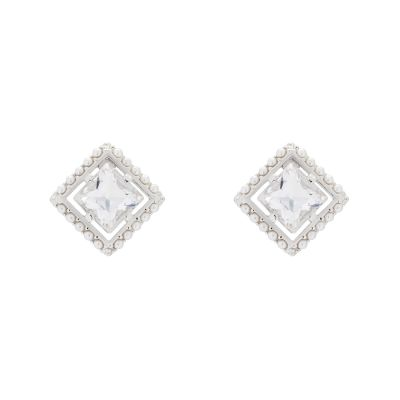 Ladies Ted Baker Payge Pearl Frame Crystal Square Stud Earring TBJ1782-01-163