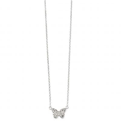 Beginnings Butterfly Cz Pave Necklace N4215C