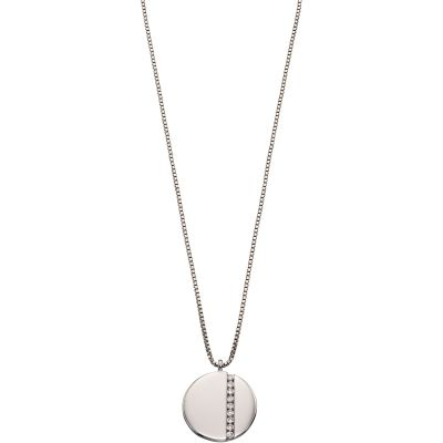 Fiorelli Silver Tiny Baguettes Necklace N4270C
