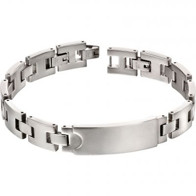 Fred Bennett Steel Section Id Bracelet Rostfritt stål B5117