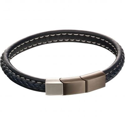 Fred Bennett Plait Leather Bracelet Leather B5119
