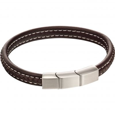 Fred Bennett Plait Leather Bracelet Leather B5120