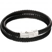 Fred Bennett Woven Plait Double Row Bracelet B5125
